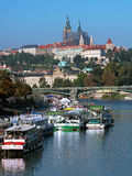 Prague Castle with St. Vitus Cathedral Royalty Free Stock Photo