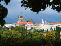 Prague Castle and St. Vitus cathedral Royalty Free Stock Image