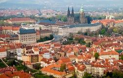 Prague Castle. St Vitus Cathedral. Prague's roofs. Czech Republic. Prague Castle. St Vitus Cathedral Royalty Free Stock Images