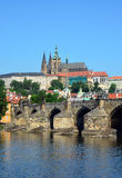 Prague castle, St. Vitus Cathedral, Charles Bridge Stock Photo