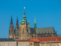 Prague Castle and St. Vitus Cathedral, Czech Republic. Prague Castle and St. Vitus Cathedral church, Czech Republic Royalty Free Stock Photo