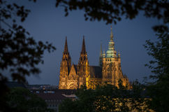 Prague castle and St. Vitus cathedral 2 Stock Photo