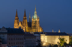 Prague castle and St. Vitus cathedral 1 Stock Photography