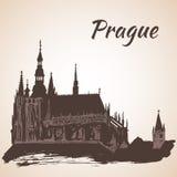 Prague castle St.Vitus cathedral - Prague Stock Images