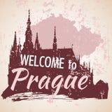 Prague castle St.Vitus cathedral - Prague Stock Photo