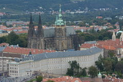 Prague Castle and St. Vitus Cathedral Stock Images