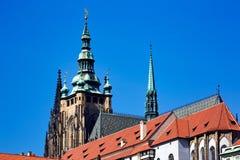 Prague castle. In summer. Horizontal position Stock Images