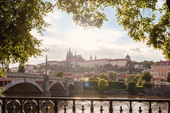 Prague Castle at sunset Royalty Free Stock Photography