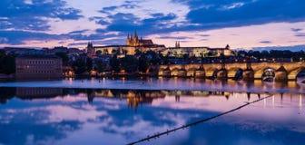 Prague Castle at Sunset Royalty Free Stock Image