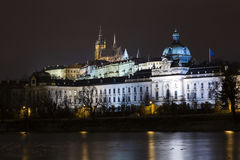 Prague Castle after sunset. Czech republic Royalty Free Stock Photo