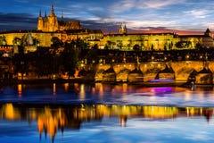 Prague Castle after sunset. Europe, Czech republic. Prague Castle after sunset. Central Europe, Czech republic Royalty Free Stock Image