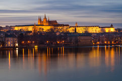 Prague Castle sunset panorama,Czech Republic Stock Image