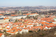 Prague castle with surroundings Stock Photo