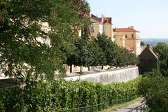 Prague Castle_t defensive walls Stock Image