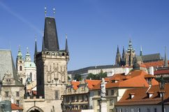 Prague Castle and towers Royalty Free Stock Photos
