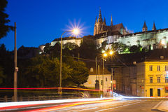 Prague Castle at twilight, Czech Republic Royalty Free Stock Photography