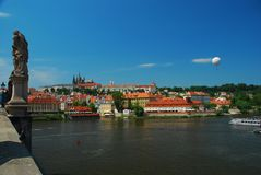 Prague castle, view across the Vtlava river Stock Photos