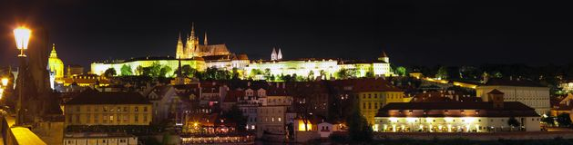 Prague Castle-view from Charles Bridge.Prague Stock Image