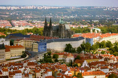 Prague Castle. A view of Prague Castle. The largest intact castle in the world stock image