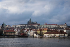 Prague castle. View of the Prague Castle over Vltava River Royalty Free Stock Image