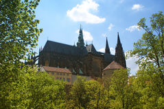 Prague Castle view Royalty Free Stock Images