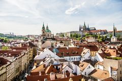 Prague Castle - view from the tower stock images