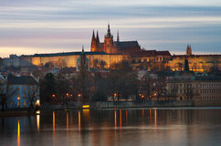 Prague Castle, view from the Vltava river Royalty Free Stock Photos