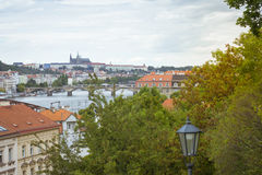 Prague Castle, view from Vysehrad national cultural monument Royalty Free Stock Images