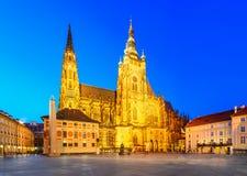Prague Castle and Vitus Cathedral, Prague, Czech Republic Stock Images