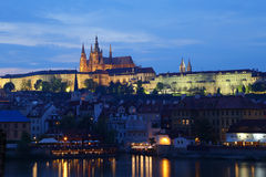 Prague Castle Vltava Stock Photography