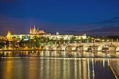Prague Castle and Vltava River royalty free stock photo