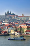Prague Castle, Vltava river, Charles Bridge Royalty Free Stock Image