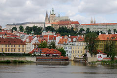 Prague Castle and Vltava River, Czech Republic Royalty Free Stock Images
