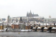 Prague castle in the winter Royalty Free Stock Photography