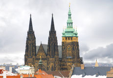 Prague Castle in winter Royalty Free Stock Photography