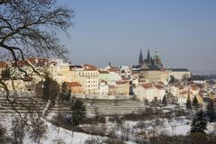 Prague castle in winter Royalty Free Stock Images