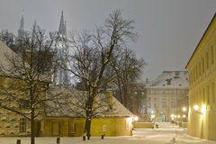 Prague Castle in winter Royalty Free Stock Image