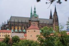Prague, cathédrale de République Tchèque de St Vito, belle vue images libres de droits