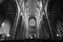 Prague Cathedral. The interior of Prague Cathedral Stock Images