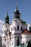 Prague. Cathedral and sculpture of Jan Zhizhka Royalty Free Stock Photography