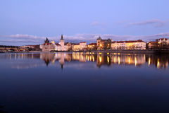 Prague center with Charles bridge Stock Photography