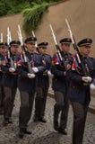 Prague changing of guard Stock Photography