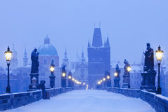 Prague charles bridge Stock Photography