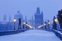 Prague charles bridge Stock Images