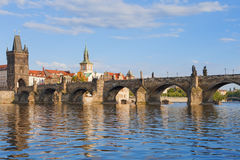 Prague charles bridge Royalty Free Stock Images