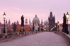 Prague charles bridge Stock Images