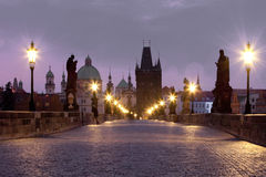 Prague charles bridge Stock Image