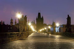 Prague charles bridge Royalty Free Stock Photos