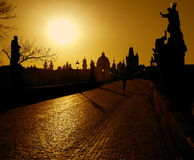 Prague.Charles Bridge Stock Photo