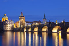 Prague, charles bridge Royalty Free Stock Images